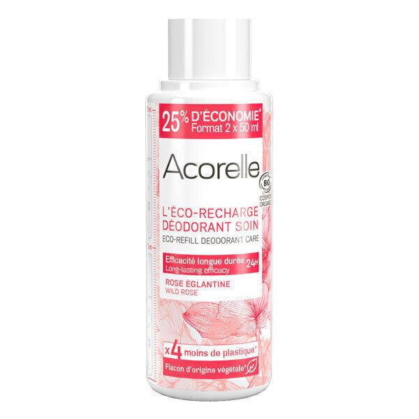 Acorelle - Recharge deo soin Rose Eglantine 100ml