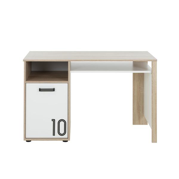 Gami - Bureau 1 porte Kyllian - Chêne et blanc