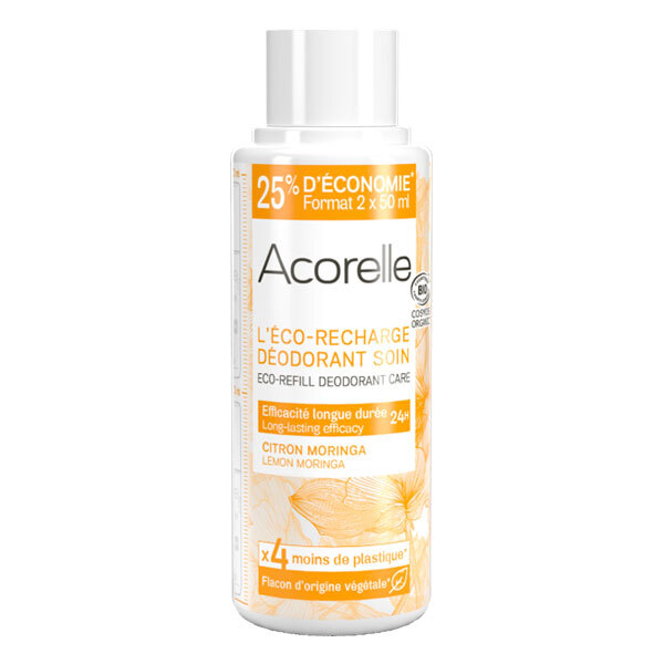 Acorelle - Recharge deo soin Citron Moringa 100ml