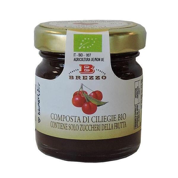Saveurs de Tosca - Mignon Compote Confiture de cerises BIO Brezzo - 40 gr Italienne