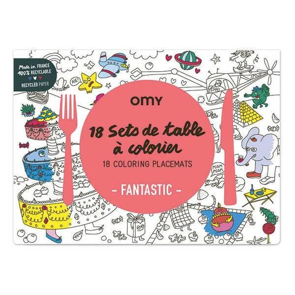 OMY - Set de table à colorier - Fantastic - Omy