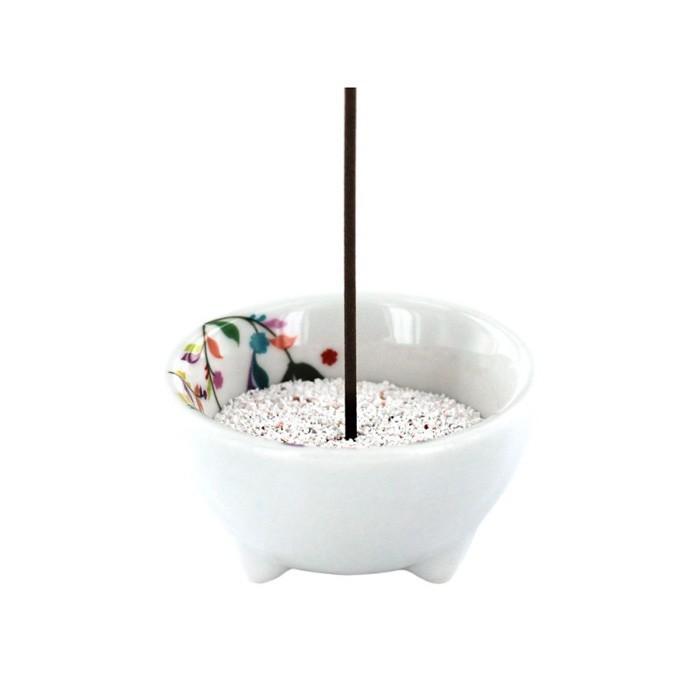 Les Encens du Monde - Porte-encens Végétal en porcelaine