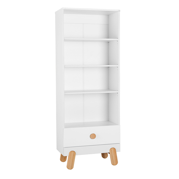 Pinio - Bibliothèque Iga - Blanc et bois