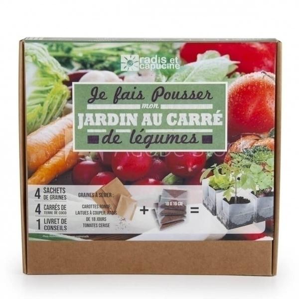 Radis et Capucine - Kit Jardin au carré de légumes