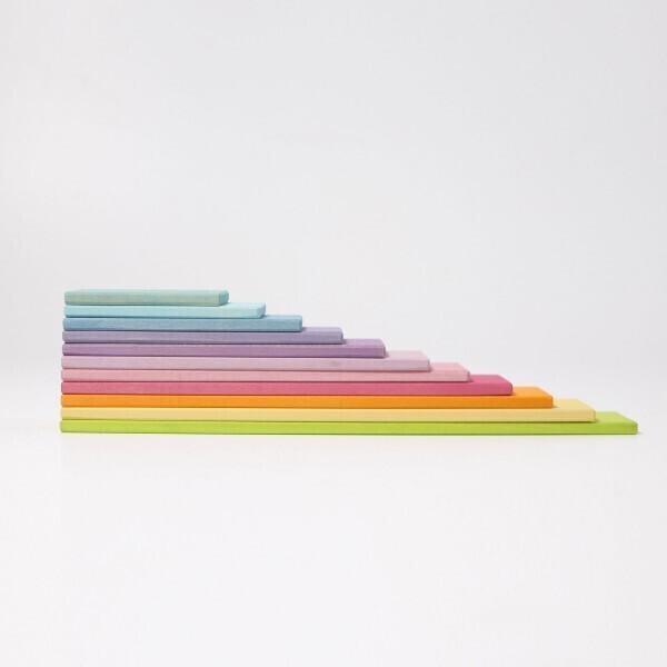 GRIMM'S - Lot de 11 panneaux de construction pastel