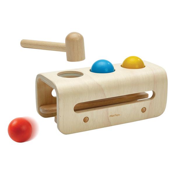 Plan Toys - Banc à marteler en bois