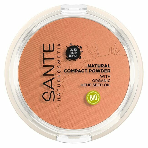 Sante Naturkosmetik - Poudre Compacte naturelle n°3 Warm Honey 9g