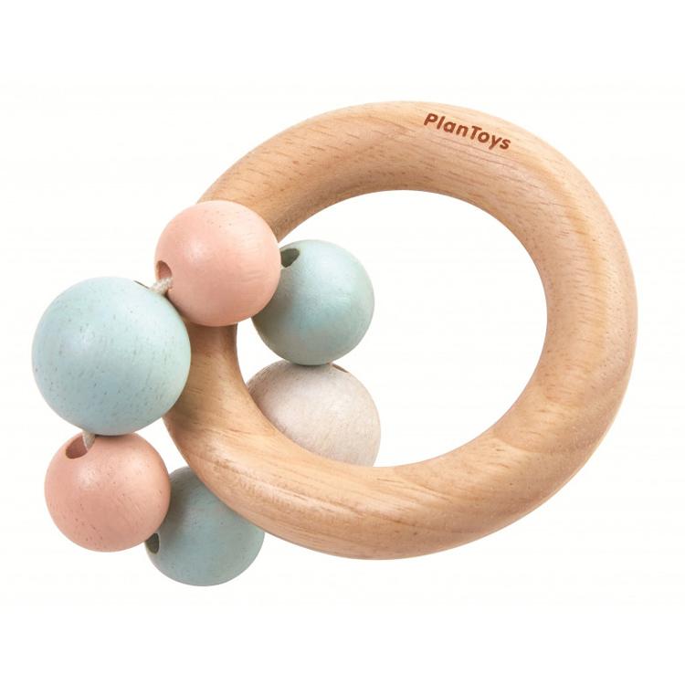 Plan Toys - Hochet de perles pastel