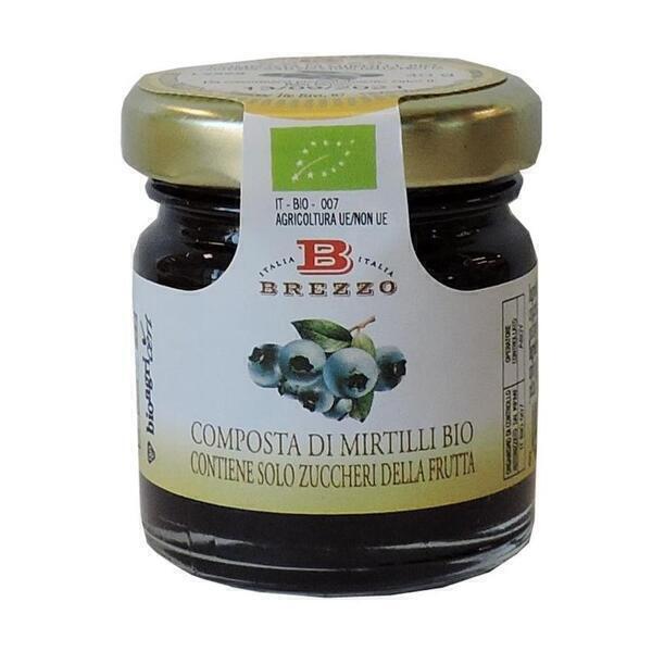 Saveurs de Tosca - Mignon Compote Confiture de myrtilles BIO Brezzo - 40 gr Italien