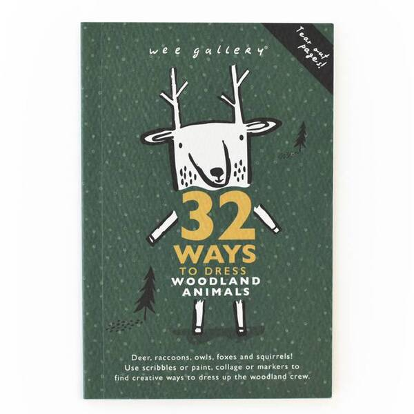 WEE GALLERY - Cahier d'activité - Animaux de la forêt - 32 ways to dress