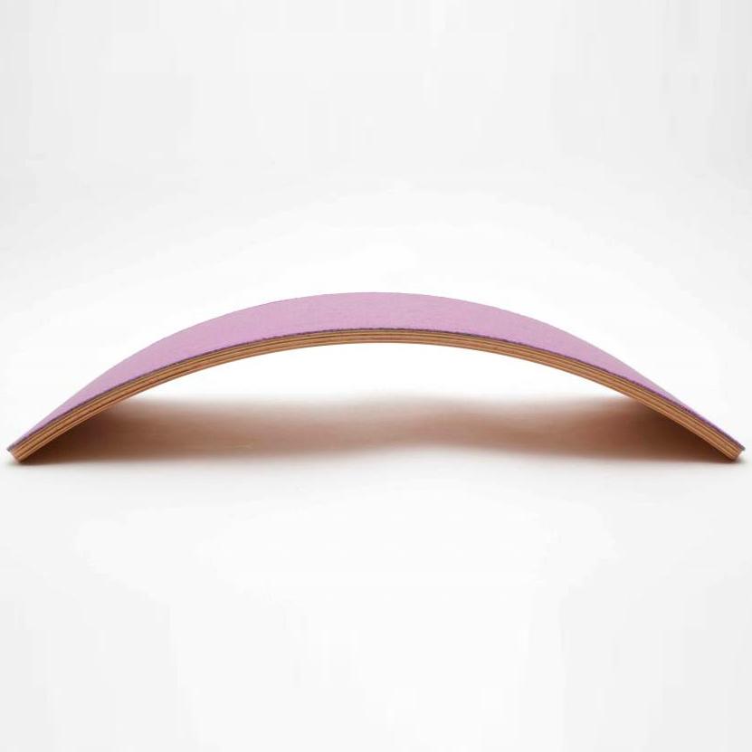 WOBBEL - Planche d'équilibre Starter en bois et feutre Rose