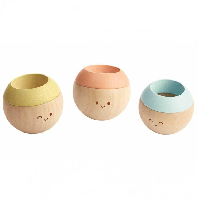 Plan Toys - Têtes sensorielles pastel