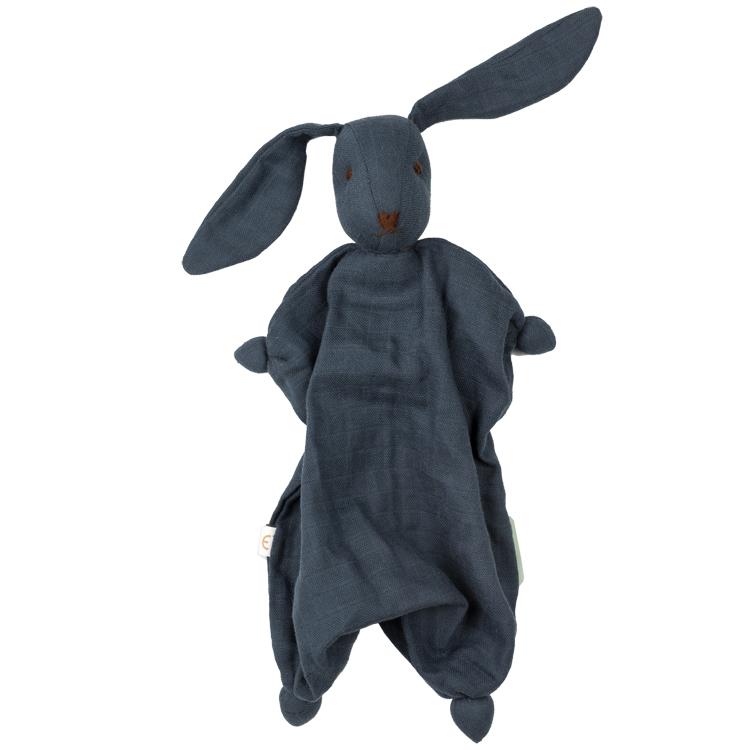 HOPPA - Doudou Tino en mousseline de coton bio Navy Blue