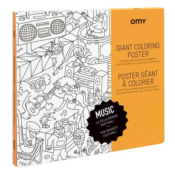 OMY - Poster à colorier - Music - Omy