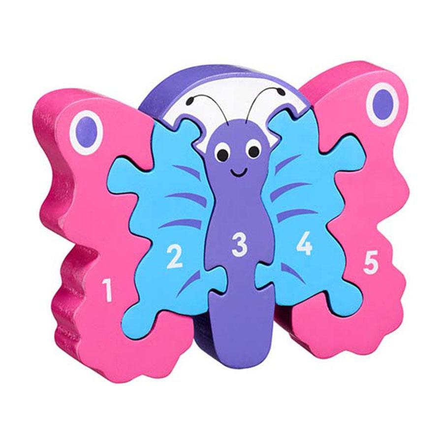 LANKA KADE - Puzzle en bois Chiffres 1-5 Papillon