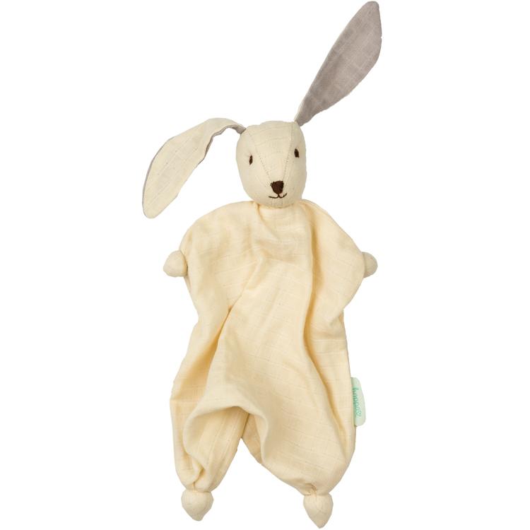 HOPPA - Doudou Tino en mousseline de coton bio Cream