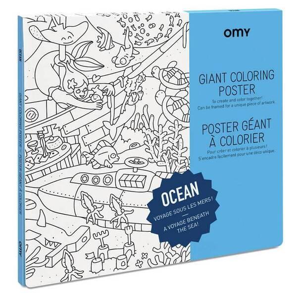 OMY - Poster à colorier - Océan