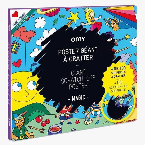 OMY - Poster à gratter - Magic