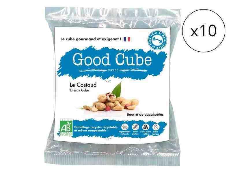 Good Cube - Sablés bio beurre de cacahuètes - Le Costaud x10