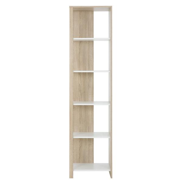 Gami - Bibliothèque colonne Kyllian - Chêne et blanc
