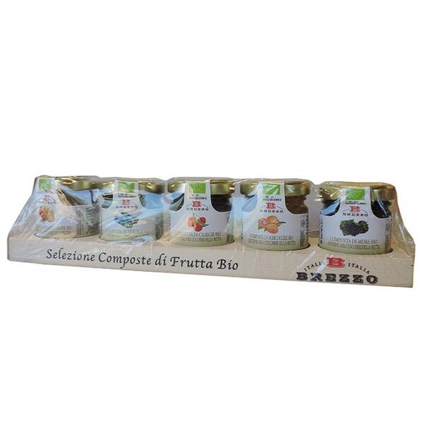 Saveurs de Tosca - Collection 5 Compotes de fruits BIO haute qualité 100% italienne