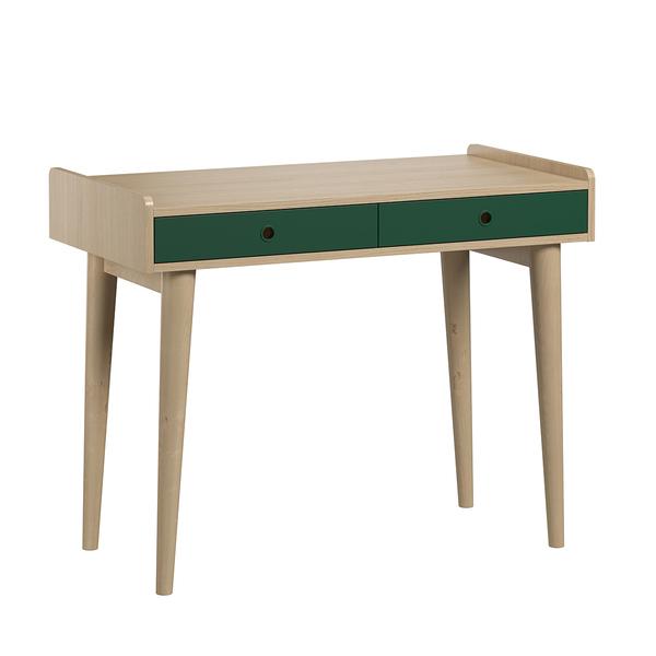 Vox - Bureau 2 tiroirs Retro - Bois Vert