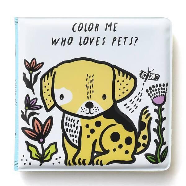 WEE GALLERY - Livre de bain à colorier - Animaux domestiques