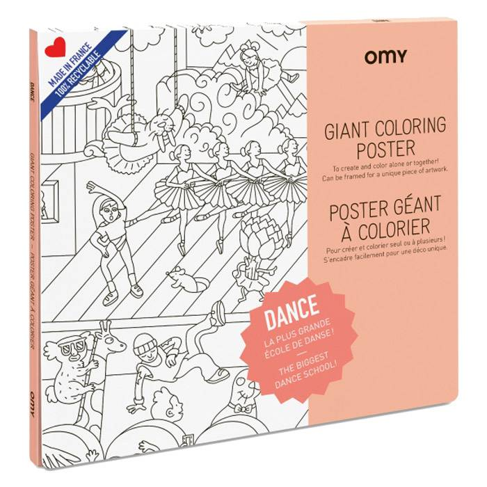 OMY - Poster à colorier - Danse - Omy