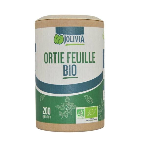 Jolivia - Ortie feuille Bio - 200 gélules végétales de 210 mg