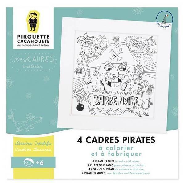 Pirouette cacahouete - 4 cadres Pirates à colorier et fabriquer