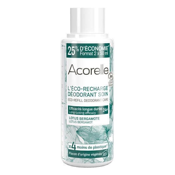 Acorelle - Recharge deo soin Lotus Bergamote 100ml
