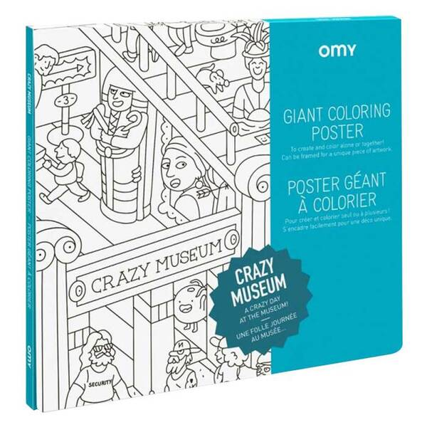 OMY - Poster à colorier - Crazy Museum - Omy