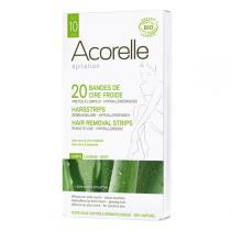 Acorelle - Kaltwachsstreifen Körper 20 Streifen