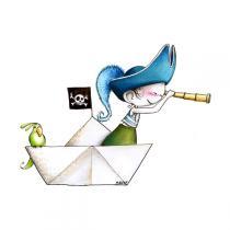 Acte Déco - Sticker Pirat 90 x 68 cm