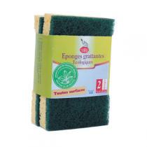 La Droguerie écologique - 2 Eponges Grattantes Eco Vertes