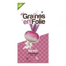 Graines en Folie - Graines de Navet De Milan Rouge