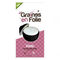 Graines en Folie - Graines de Radis Noir Gros Rond D'Hiver