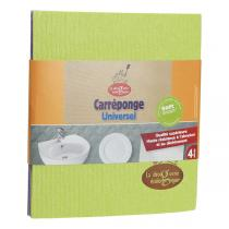 La Droguerie écologique - 4 square Cellulose sponge cloths