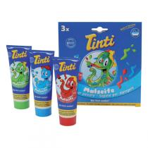 Tinti - Savon pour peindre - boîte de 3 tubes bleu vert et rouge
