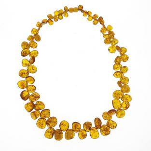 BalticWay - Adult Cognac Amber Beaded Necklace