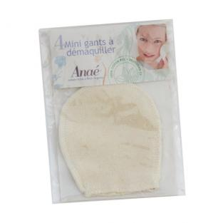 Anaé - 4 Washable Cotton Mini Makeup Removal Gloves