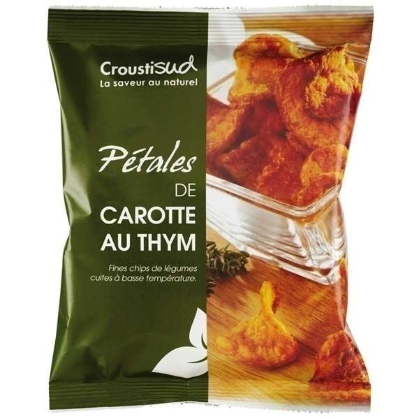 Croustisud - Chips pétales de carotte au thym 70g