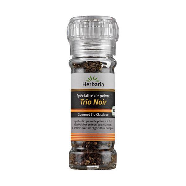 Herbaria - Moulin à poivre Trio Noir 50g