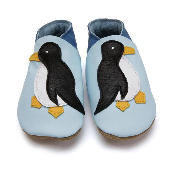 Starchild - Chaussons en cuir Pingouin Bleu