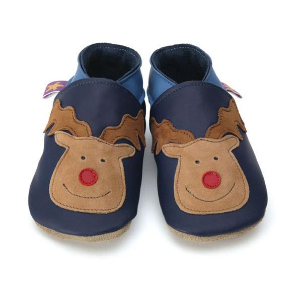 Starchild - Chaussons en cuir Reindeer bleu