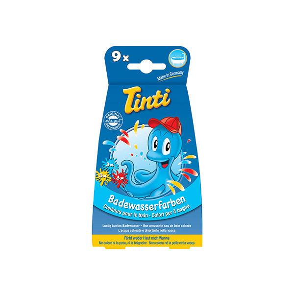 Tinti - Colorant pour le bain, 9 sachets - bleu, jaune et rouge