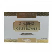 Cevrai - Ginseng et Gelée Royale Boisson tonique - 20 ampoules