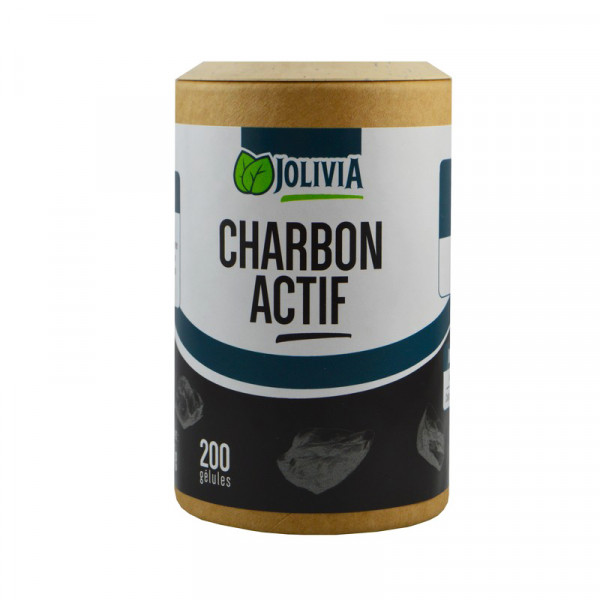 Jolivia - Charbon actif - 200 gélules végétales de 210 mg