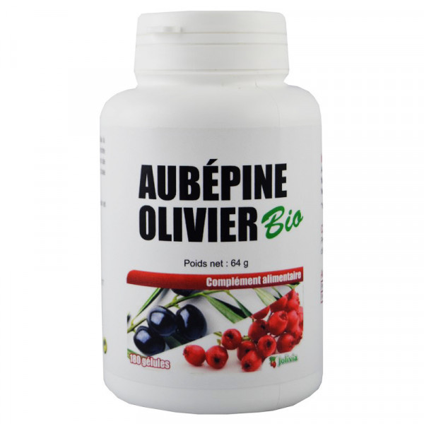 Jolivia - Aubépine Olivier Bio - Gélules végétales de 280 mg