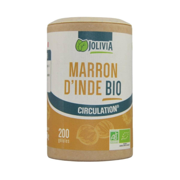 Jolivia - Marron d'Inde Bio - 200 gélules végétales de 225 mg